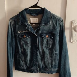 Beautiful faded denim jean jacket!